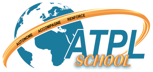 Ecole de pilotage professionnel - logo atplschool- formation ATPL théorique pour les futurs pilote de ligne obtention certificats