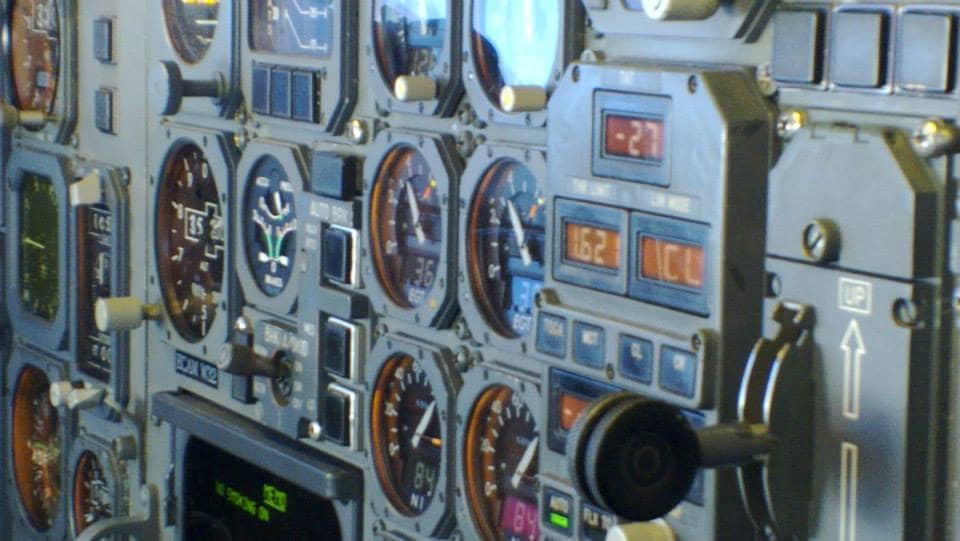 A300-B4 Landing gear lever; Thrust computer