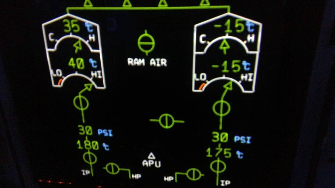 A330 Air conditionning display