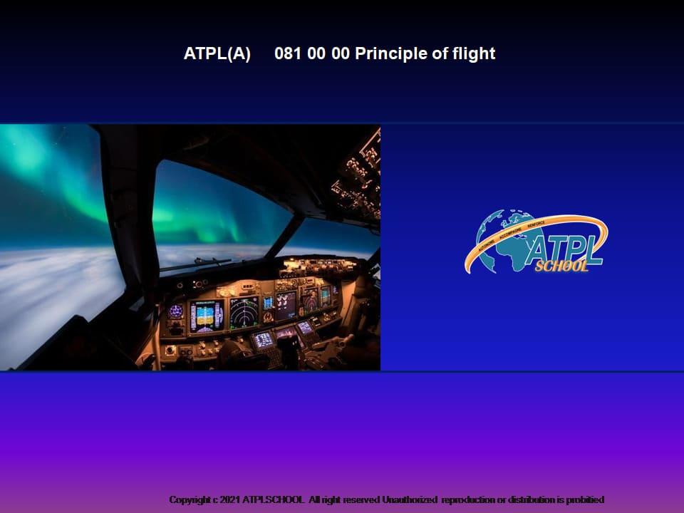 Ecole de pilotage professionnel - Certificat ATPL théorique avion 081 mécanique du vol formation-théorique pilote de ligne