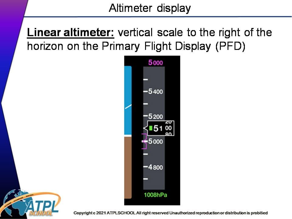 Certificats pilote de ligne ATPL théorique avion 022 instrumentation avion formation altimètre et jauge Pitot