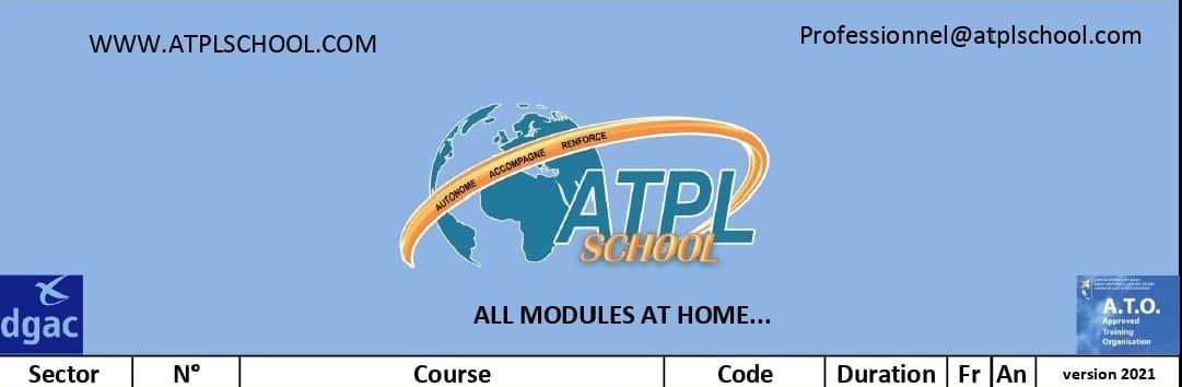 Présentation des modules formation maintien compétence atplschool formation pilote de ligne a distance reconversion métier